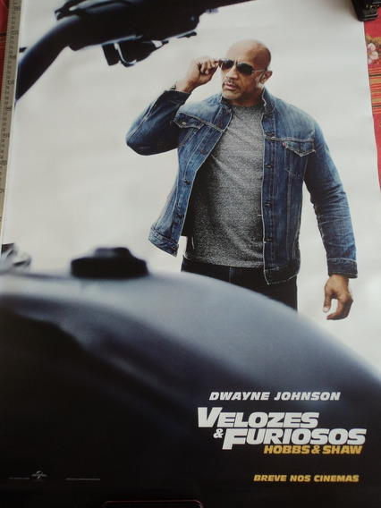 Poster:velozes & Furiosos:dwayne Jhonson:cinema:94cm X 64cm