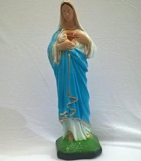 Escultura Imagem Nossa Senhora Sagrado Coraçao Maria Sao