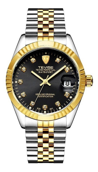Relógio Automático Original Luxo Tevise