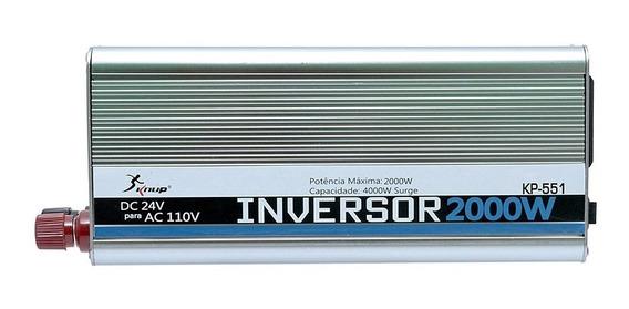 Inversor Automotivo Veicular 2000w 24v Para 110v Knup Kp-551