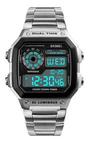 Relógio Skmei Luminus Sport Prata