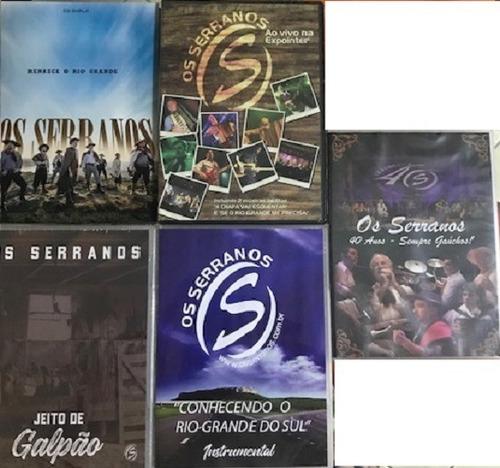 Imagem 1 de 1 de Cd - Os Serranos - Renasce O Rio Grande (cd Duplo) + 04 Dvds
