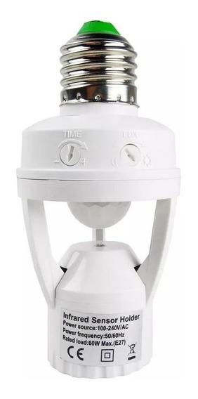 Kit 5 Sensor De Presença Soquete E27 Lâmpada Iluminação