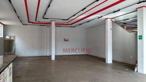 Salão Para Alugar, 290 M² Por R$ 5.500,00/mês - Jardim América - Bauru/sp - Sl0107