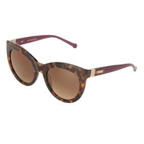 2a153448e Óculos De Sol Fórum Feminino Marrom Demi Com Azul - Óculos De Sol no ...