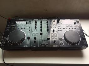 Kit Cdj 350 Pioneer + Mixer Djm 350