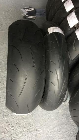 Pneus 120/70/17e190/50/17 Dunlop Usado Bom Srad Hornet Bandt