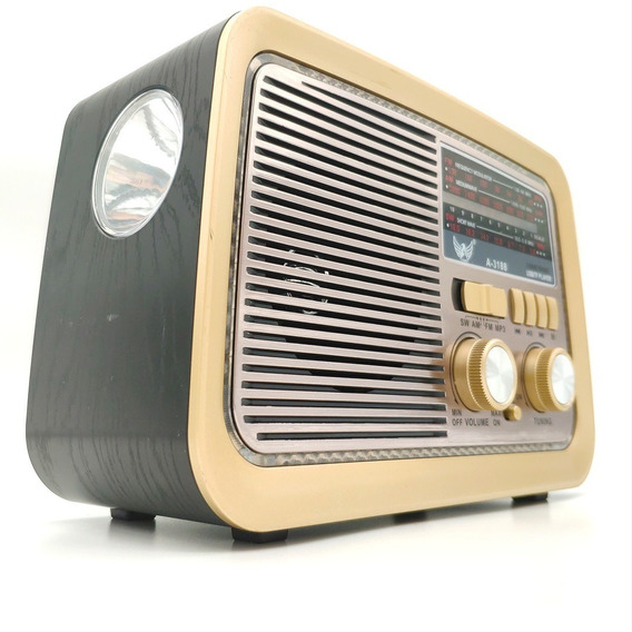 Rádio Retro Vintage Antigo Am Fm Sw Usb Mp3 Bivolt Bluetooth