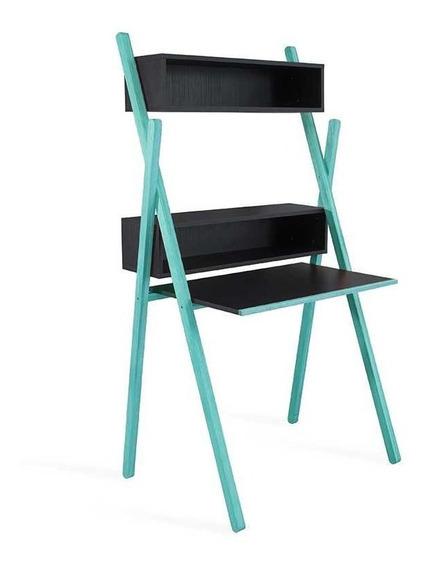 Escrivaninha Moderna Preta E Azul Design Para Quarto Menino