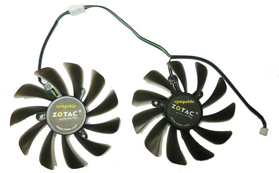 Dual Cooler Para Placa De Video Zotac Gtx 1070 Ti Amp Edition