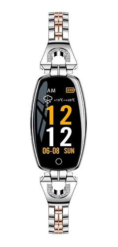 Imagen 1 de 6 de H8 Pulsera Inteligente Reloj Para Mujer Ip67 Monitor De