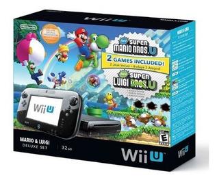 Juego De Nintendo Wii U Deluxe Super Mario Bros U Y Luigi U