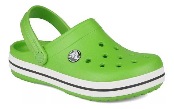 Crocs Crocband Verde Lima Originales Hombre Dama