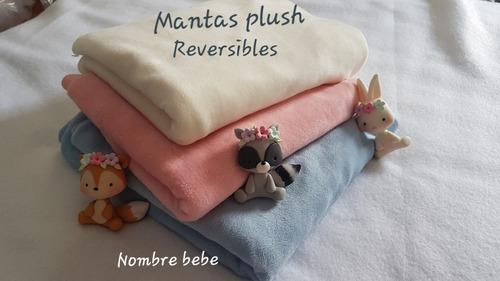 Mantas  Reversibles Plush/polar Invierno Personalizado