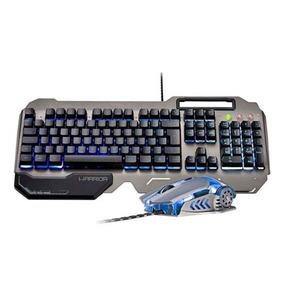 Teclado E Mouse Gamer Superficie Em Metal Warrior - Tc223