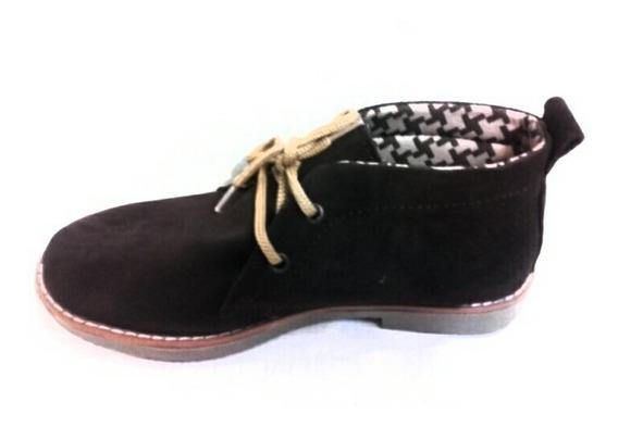 Botitas Cuero Gamuzado Zapatos Botas Mujer Fiorcalzados