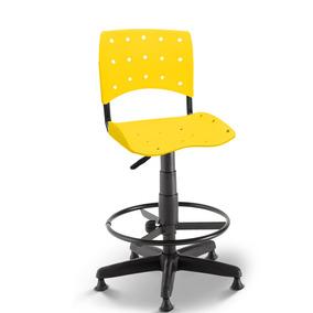 Cadeira Caixa Secretária Balcão Portaria Ergoplax Amarelo
