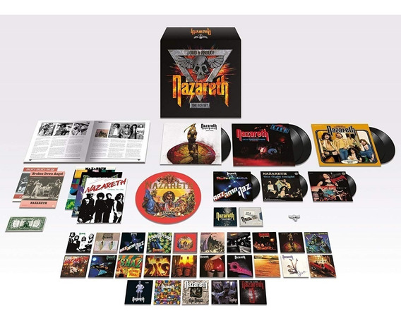 Nazareth Loud & Proud! The Boxset (lps Cds Singles Book)