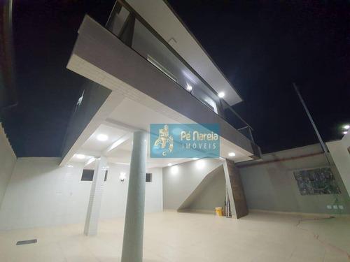 Casa Com 2 Dormitórios À Venda, 52 M² Por R$ 220.000,00 - Maracanã - Praia Grande/sp - Ca0115