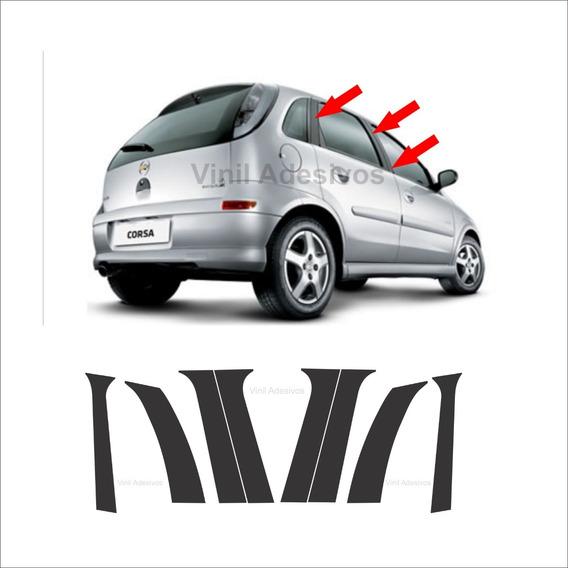 Adesivo Blackout Corsa Hatch / Sedan G2 Recortado
