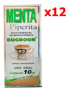 Óleo Essencial Menta Piperita 12 X 10ml - Bugroon