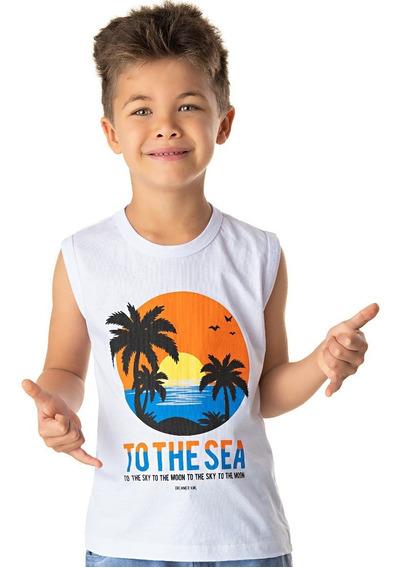 Roupa Infantil Camiseta Machão Meia Malha Verão Isensee