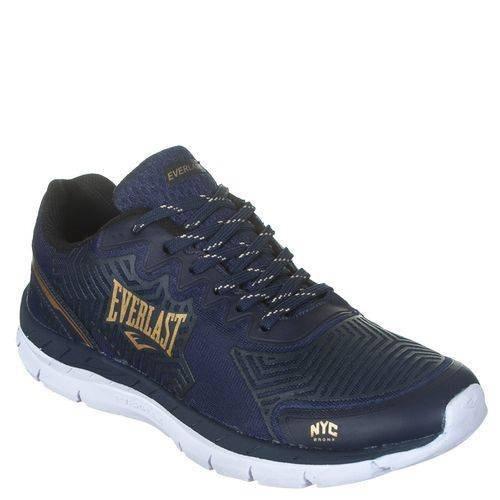 Tênis Everlast Vision Masculino Azul Com Dourado - Running