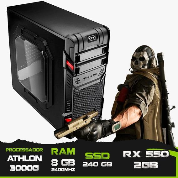 Pc Gamer Athlon 3000g / Rx 550 2gb / 8gb Mem / Ssd 240gb