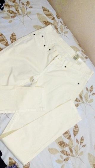 Pantalón Lee Para Dama. T:28x31 Amarillo Claro. Usad.(7vds)