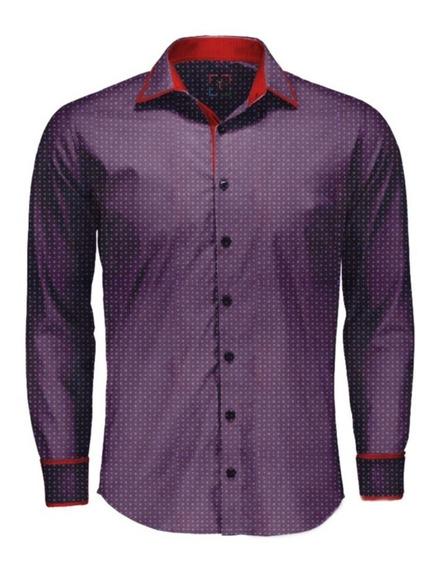 Camisas Social Masculina Slim Fit - P Ao Gg + Brinde