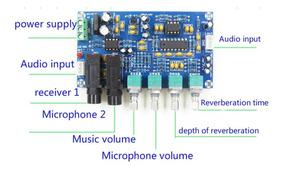 Placa Pré Ampli Microfone Karaoke Reverberação Xh-m173