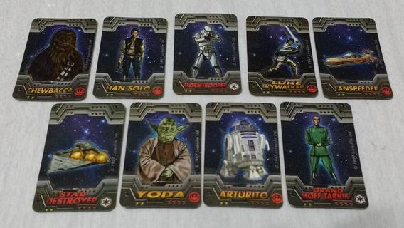 Lote 9 Tarjetitas Troqueladas Star Wars Trilogia 97 Pepsico