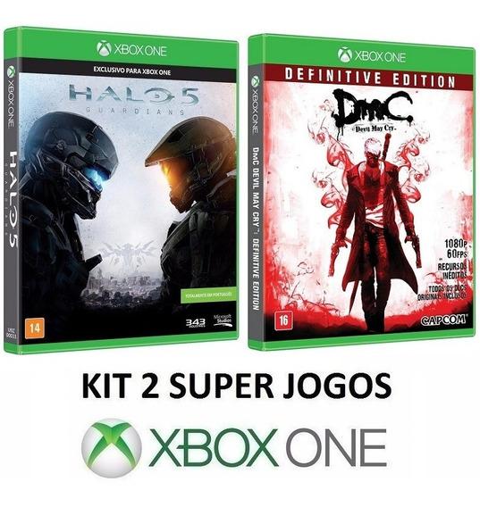 Halo 5 + Dmc Devil May Cry - Midia Fisica Lacrado - Xbox One