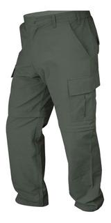 Pantalon Cargo Desmontable Trekking Verde Secado Rapido
