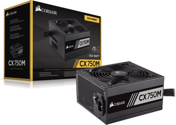 Fonte Corsair Cx750m Semi Modular 80 Plus Pc Gamer