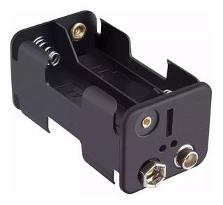 Portapila 4 Doble Aa Con Conector Bateria 9v Snap