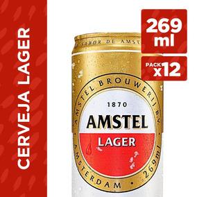 Cerveja Amstel Lager Lata 269ml - Pack Com 12 Latas