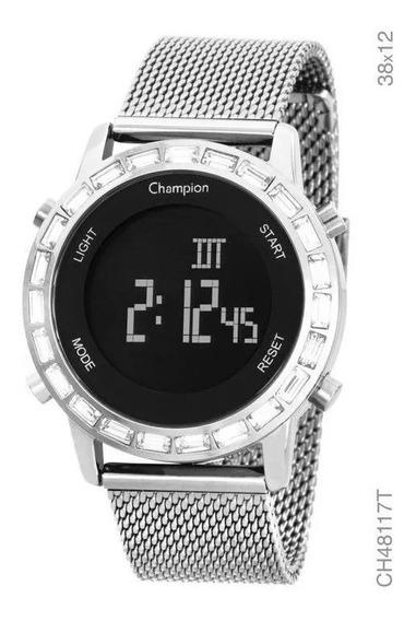 Relógio Digital Champion Led - Ch48117t Lançamento Cx Nota