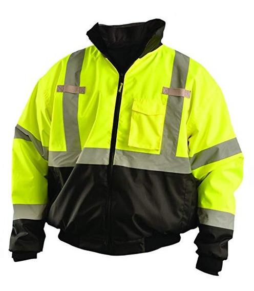 Chamarra Reflejante Safety Seguridad Visibilidad Trabajo Wor