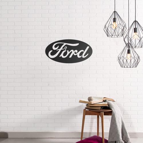 Quadro Decorativo Parede Veículos Ford Logo 02 60cm