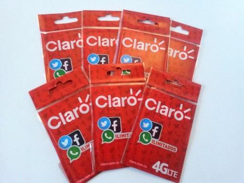 Sim Card Claro 4g Lte Paquete X 100 Und.  Envio Inmediato