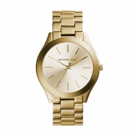 Relógio Michael Kors Slim Gold - Mk3179