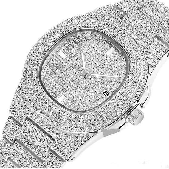 Relógios De Diamante Moda Automatic Data De Aço Inoxidável