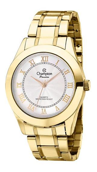 Relógio Feminino Dourado Champion Ch24544h Algarismos Romano