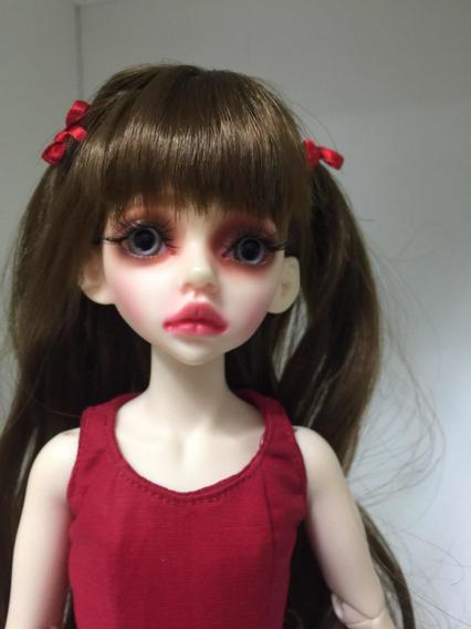 Boneca Bjd Recast 1/4 Doll Normal Skin Peruca Sapato Vest