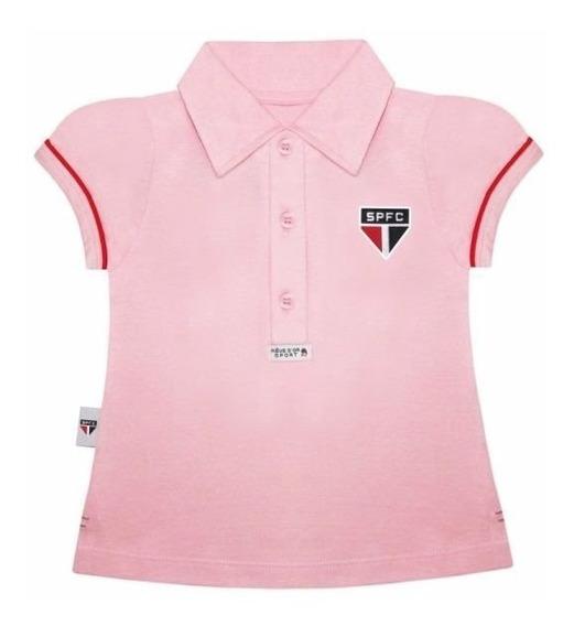 Camisa Polo Do São Paulo Infantil Oficial Menina