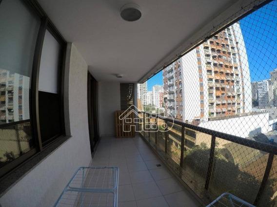 Apartamento Com 3 Dormitórios À Venda, 129 M² Por R$ 1.050.000,00 - Icaraí - Niterói/rj - Ap2763