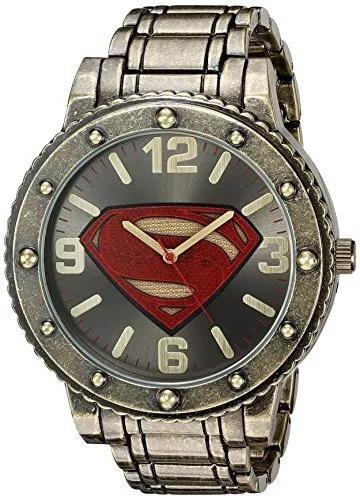 Reloj Superman Casual Dc Comics Metal Y De Cuarzo