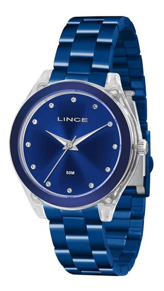 Relogio Lince Feminino Azul E Prata Lra4431p