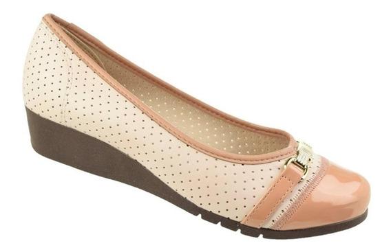 Sapato Feminino Conforto Anabela Moleca Turim 5156752
